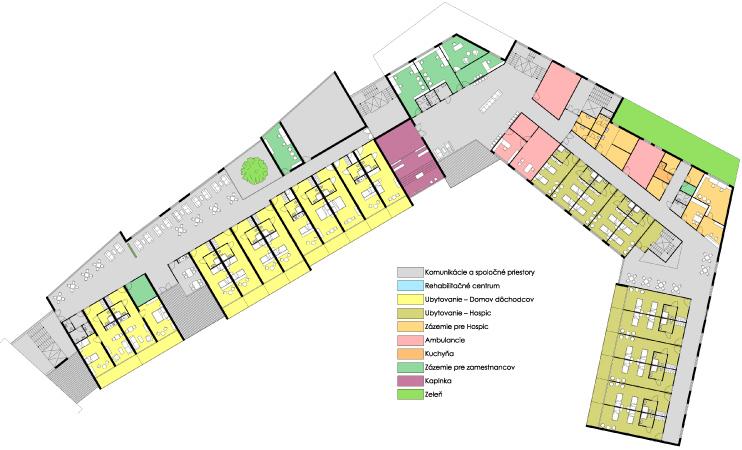 Pôdorys 2 NP - Centrum seniorov