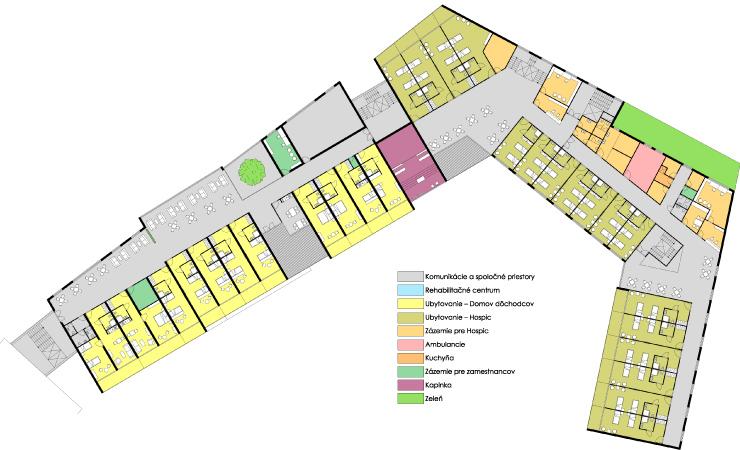 Pôdorys 3 NP - Centrum seniorov