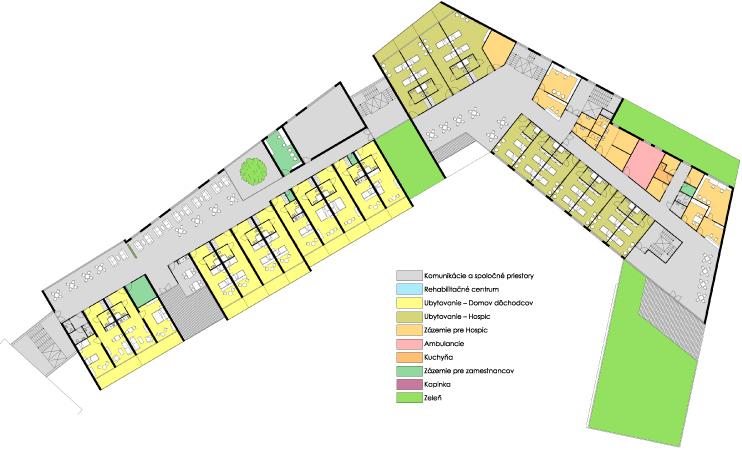 Pôdorys 4 NP - Centrum seniorov