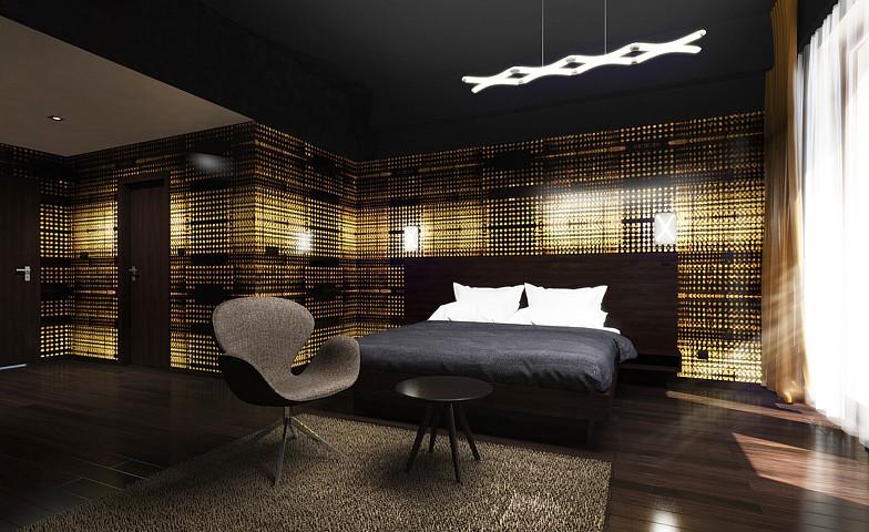 Hotelová izba Zlatý dukát - vizualizácia