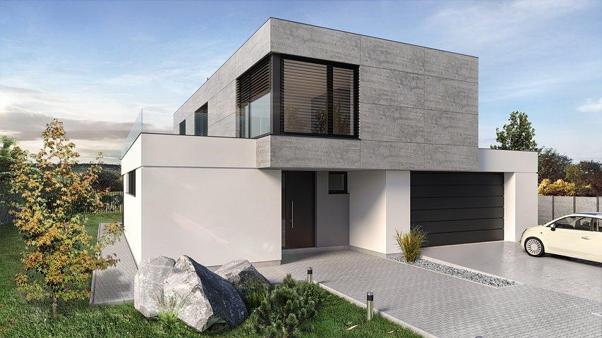 Katalógové domy - vizualizácia