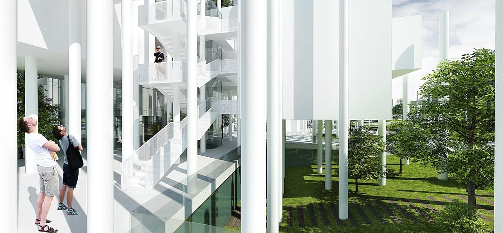 Knižnica na brehu - vizualizácia