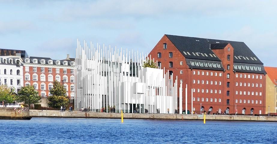 København new modern library - vizualizácia