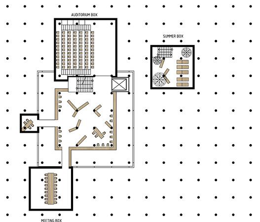 København new modern library - Pôdorys