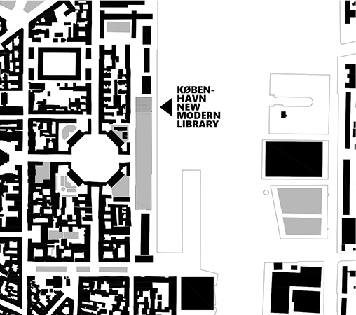 København new modern library - Situácia