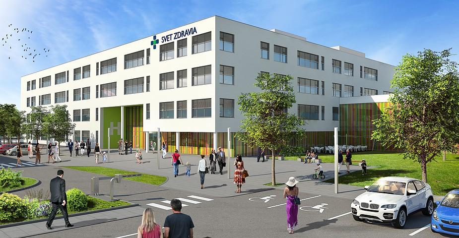 Nemocnica novej generácie Michalovce - vizualizácia