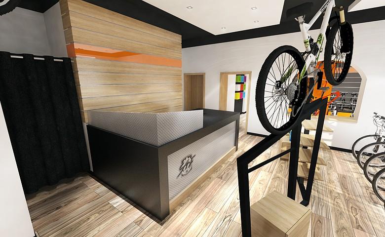Predajňa bicyklov - vizualizácia