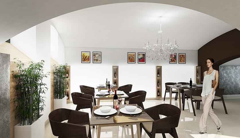 Reštaurácia Culinario Club 33 - vizualizácia