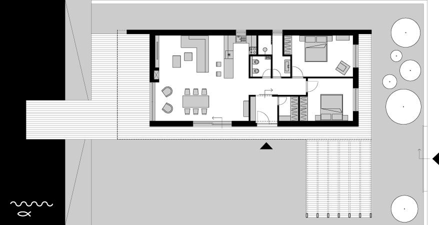 Víkendový dom Čaňa - pôdorys