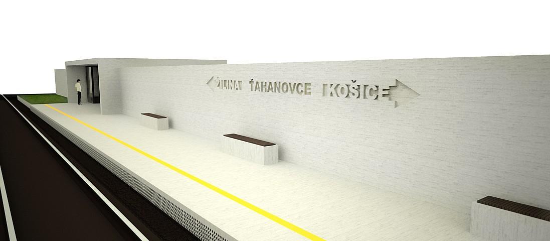Vlaková zastávka Ťahanovce - vizualizácia